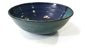 Whhel thrown salad bowl at Dan Harelick Studio Art