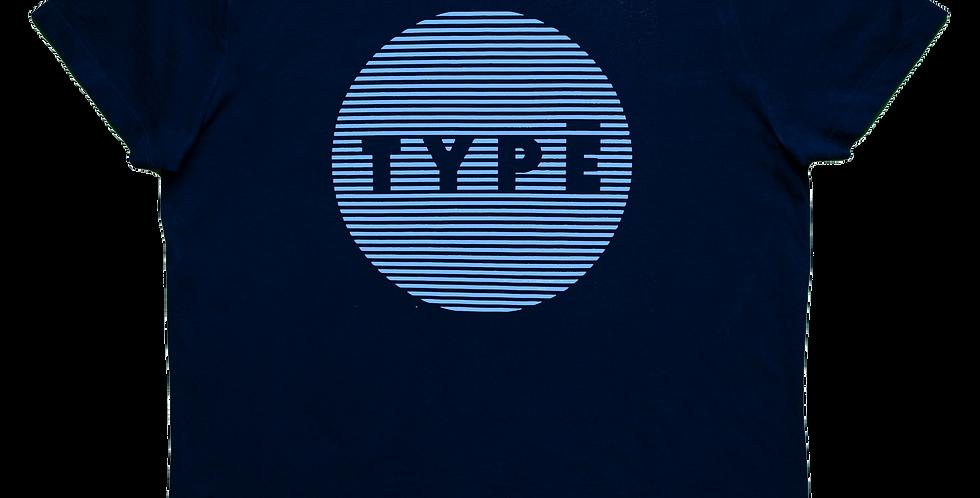 T-Shirt 'TYPE Circle' Druck