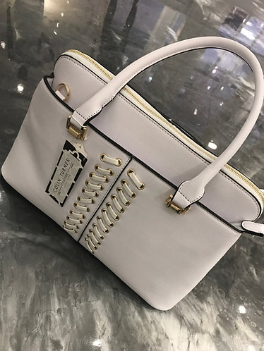 CTC - COUTURE WHITE TIE FRONT ACCT BAG