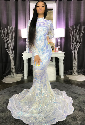 """""""SAVAGE RARE RADIANT"""" COUTURE SEQUIN GOWN"""
