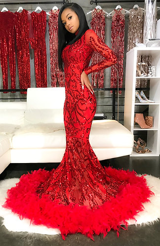 """""""SARIA"""" COUTURE SEQUIN GOWN"""