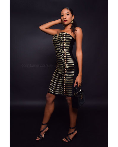 CTC - COUTURE GOLD SALUTE BANDAGE DRESS