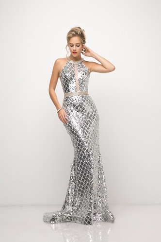 CTC - COUTURE SILVER DIAMOND GOWN