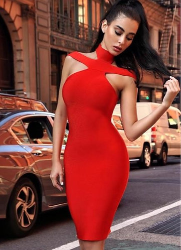 CTC - COUTURE FRAN CROSS BANDAGE DRESS