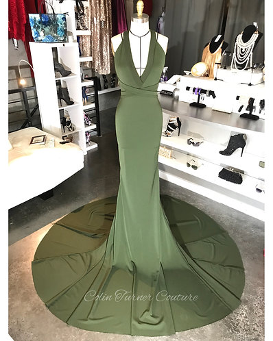 "COUTURE CUSTOM ""VERDE"" GOWN"