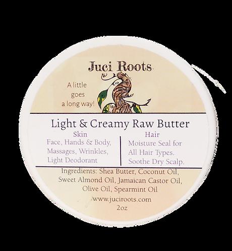 2oz Light & Creamy Raw Butter