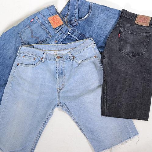 10 x Vintage Men's Levi's Grade A Cut Off Denim Shorts