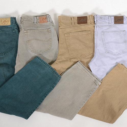 10 x Vintage Men's GRADE A Lee Coloured Straight Leg Jeans
