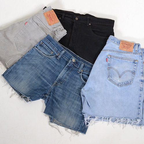10 x Vintage Women's Levi's Grade B Cut Off Denim Shorts