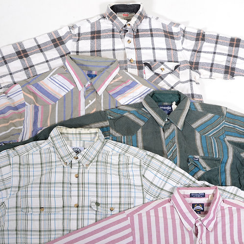 Vintage Men's Levi's Lee Wrangler Shirts Mix