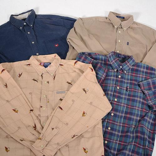 10 x Vintage Men's Ralph Lauren Chaps Cotton Shirts Mix