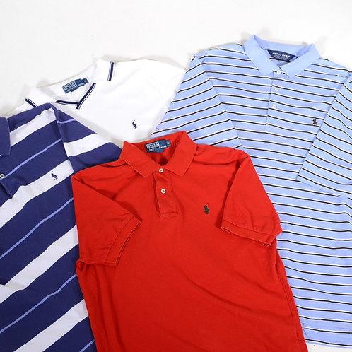 10 x Vintage Men's Ralph Lauren Polo Shirts Mix