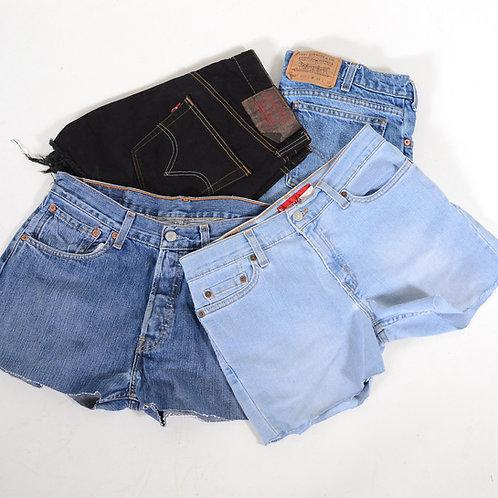 10 x Vintage Women's Levi's Grade A Cut Off Denim Shorts