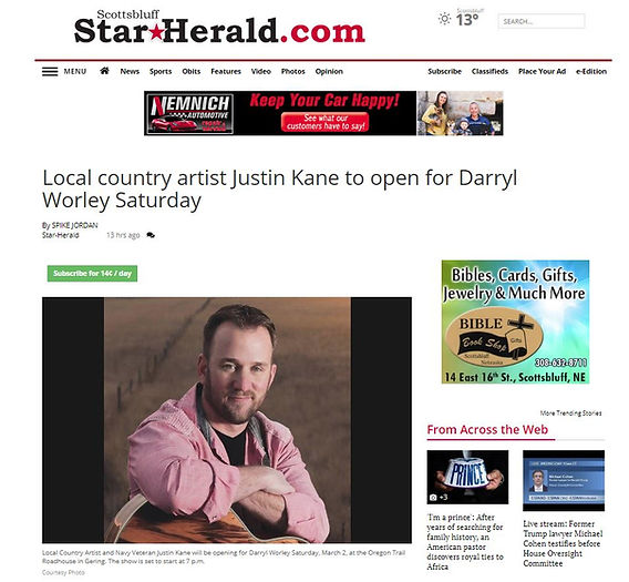 star herald interview for worley concert