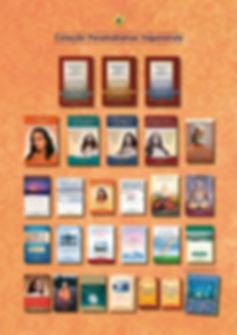 Foto com as capas dos livros em português, publicados pela SRF, e seus preços de venda