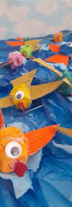 Utilização de material reciclável nas propostas pedagógicas.
