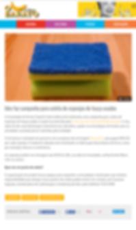 IDES coleta esponjas usadas