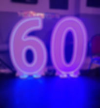 LED Numbers Hire Somerset Birthday DJ Di