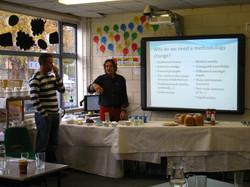 Spanish team explaining methodology
