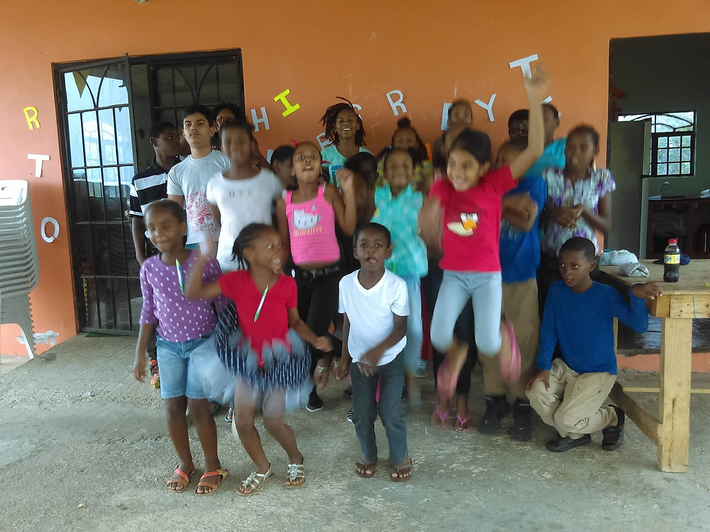 Members of the Cashew Gardens Police Youth Club