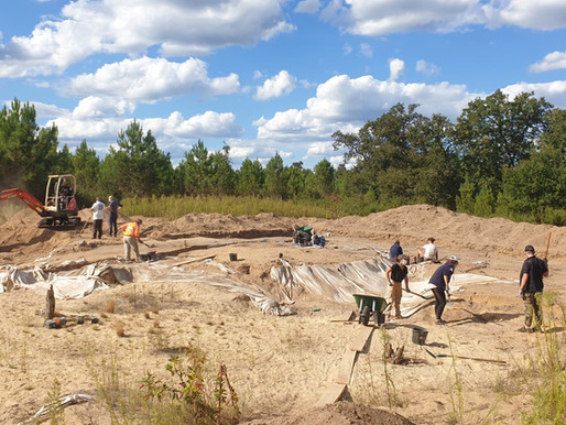 Intervention sur le chantier archéologique de Géloux (40)