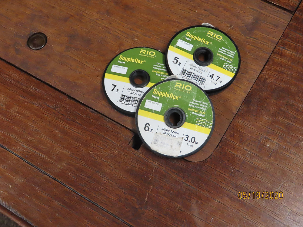 "alt=""spools of fly fishing tippet"""