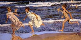 Corriendo por la playa -Sorolla
