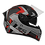 Thumbnail: Capacete GP Tech V128 Fusion Fosco | Preto e Vermelho