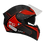 Thumbnail: Capacete GP Tech V128 - Rapid V2 Fosco | Preto e Vermelho
