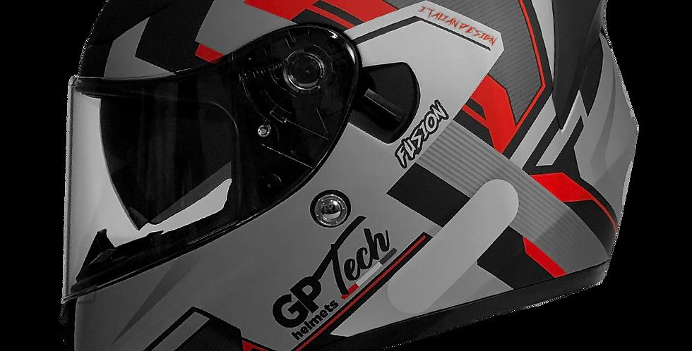 Capacete GP Tech V128 Fusion Fosco | Preto e Vermelho