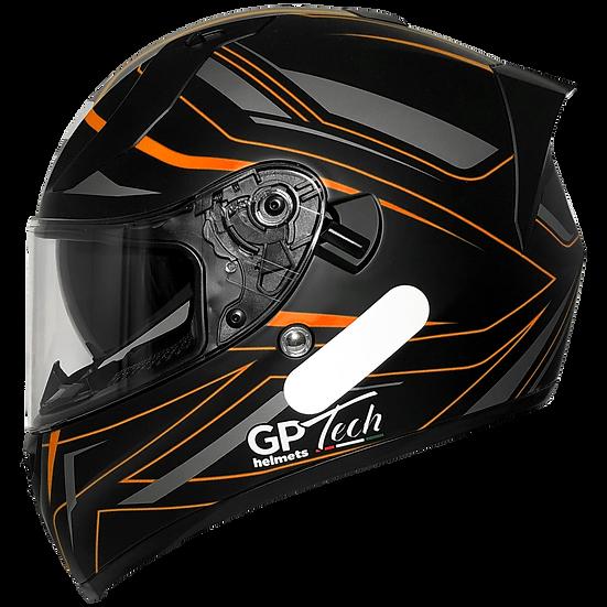 Capacete GP Tech V128 Ride | Laranja