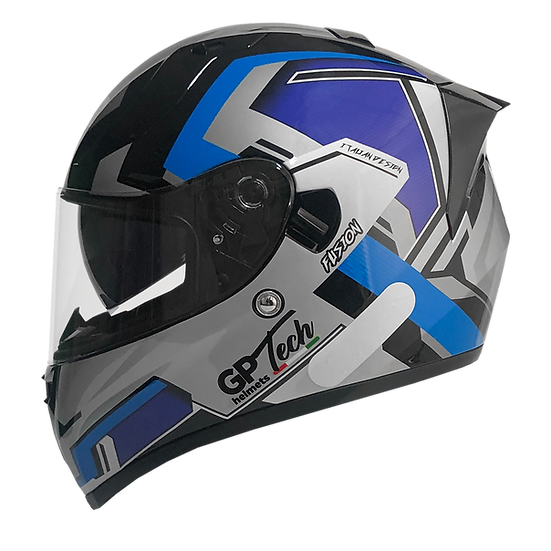 Capacete GP Tech V128 Fusion Fosco   Preto e Azul