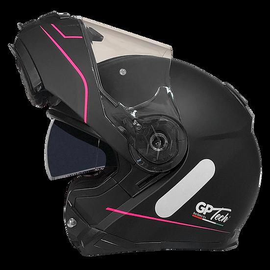 Capacete GP Tech A118 ROAD | Preto e rosa fosco