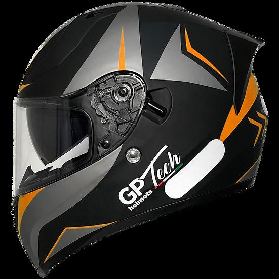 Capacete GP Tech V128 Velocity | Laranja Claro