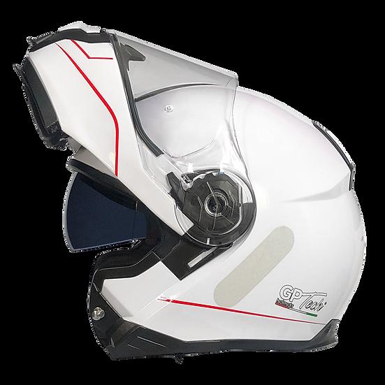 Capacete GP Tech A118 ROAD Brilhante | Branco e vermelho