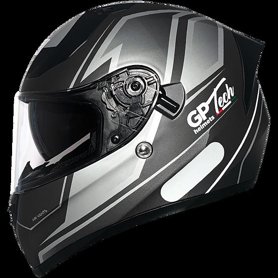 Capacete GP Tech V128 Faster Titanium | Cinza