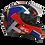 Thumbnail: Capacete GP Tech V128 Fusion | Brilhante | Vermelho, Azul e Branco