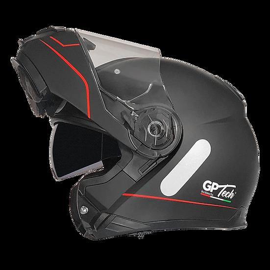 Capacete GP Tech A118 ROAD | Preto e vermelho fosco
