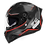 Thumbnail: Capacete GP Tech V128 - Velocity V2 Fosco | Preto-Vermelho