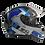 Thumbnail: Capacete GP Tech V128 Fusion Fosco   Preto e Azul