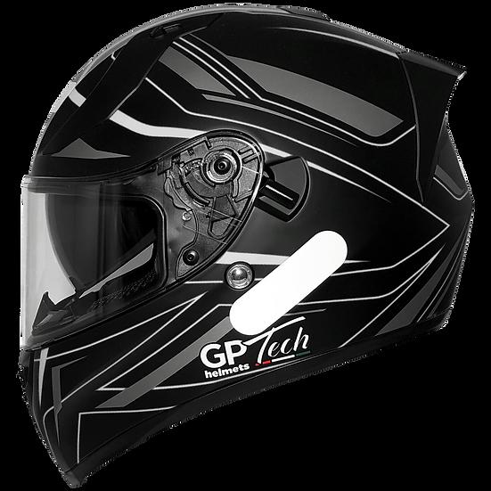 Capacete GP Tech V128 Ride | Cinza Fosco