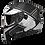 Thumbnail: Capacete GP Tech V128 - Rapid V2 Fosco | Preto e Branco