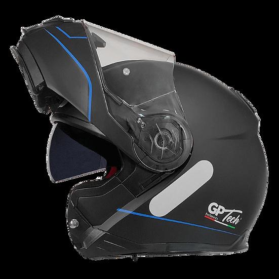 Capacete GP Tech A118 ROAD | Preto e azul fosco