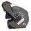 Thumbnail: Capacete GP Tech A118 ROAD | Cinza e vermelho