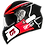 Thumbnail: Capacete GP Tech V128 Rapid   Preto com Vermelho