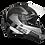 Thumbnail: Capacete GP Tech V128 Fusion Fosco | Preto, Branco e Cinza