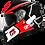 Thumbnail: Capacete GP Tech V128 Rapid Brilhante | Preto com Vermelho