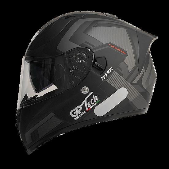 Capacete GP Tech V128 Fusion Fosco | Preto
