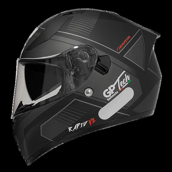 Capacete GP Tech V128 - Rapid V2 Fosco | Preto