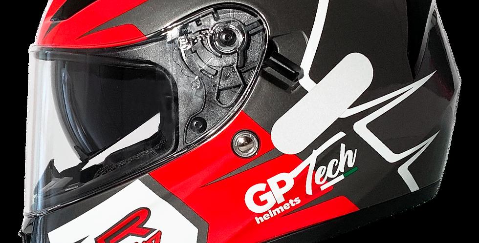 Capacete GP TECH V128 Rapid SV   Titanium